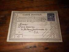 1878.Carte postale autographe .Paul de Musset