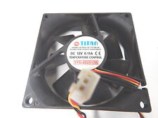 TITAN TFD-802512B Lüfter Cooler Fan +++ 12V / 0,11A +++ 80x80x25