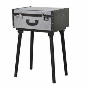 Cool Silver Standing Suitcase Table