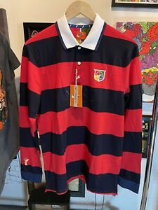 Nike Sportswear NSW Long Sleeve Prep Polo Shirt DD8947-410 Men's Medium New