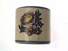 c1930 Honiton pot floral with blue rim shape 13