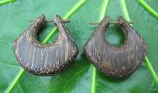 Da Uomo/Da Donna Grande Grosso CERCHI Legno Tribale Orecchini Piercing naturale fatto a mano
