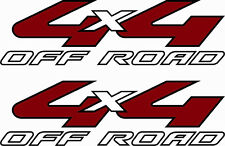 2008-2010 Vinylmark 4x4 Off Road Decals for Ford (F-250, F-350) Super Duty WHITE