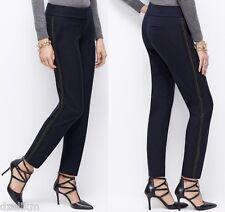 NWT $98 Ann Taylor Beaded Tuxedo Ankle Pants Navy Size 2