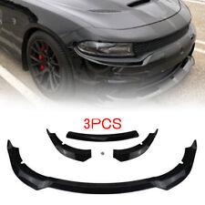 Front Bumper Lip Spoiler Splitter Body Kit Black For 2015-2019 Dodge Charger SRT