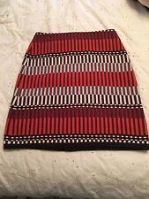 Ann Taylor Orange Stripe Skirt Size 4