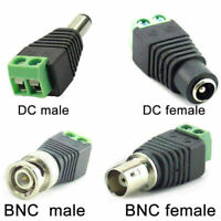 DC BNC Male/Female Connector Adapter Plug TV Video Balun Cable For Camera CCTV