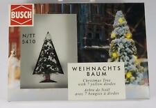 BNIB N / OO / HO BUSCH 5410 CHRISTMAS TREE WITH WORKING LIGHTS (50mm)