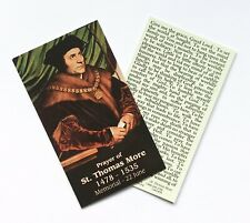 ST THOMAS MORE / PRAYER FOR GRACE Prayer Card - Wallet / Purse / Bookmark Size