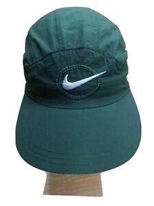 Nike Tailwind Hat Strapback Vintage 90s Rare Nylon Running Cap Circle Swoosh