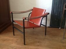 Authentic Iconic Le Corbusier LC1 Leather Sling Lounge Chair, by Cassina