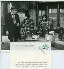 ABE VIGODA JOHN CASSISI DENISE MILLER FISH TV SHOW ORIGINAL 1977 ABC TV PHOTO