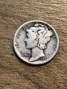 1921D Mercury Dime VG