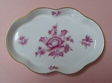 HEREND China NIANG NANKING BOUQUET Raspberry PEONY Porcelain BUTTER DESSERT TRAY