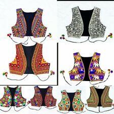 Women's Embroidered cropped Waistcoat Jacket Alternative Festival Hippy Boho