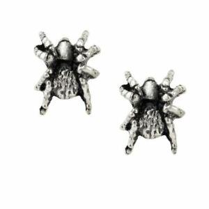 Alchemy Gothic Black Widow Stud Earrings Pair Spider Jewelry Metal Punk Alt Rock