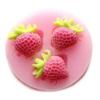Strawberry Silicone Mould 3D Flower Leaf Fondant Mold DIY Cake Decorating Tool _