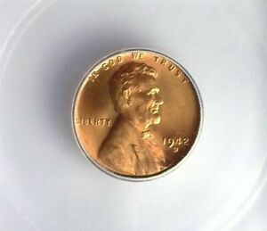 1942-D LINCOLN CENT ICG MS 67 RD LISTS FOR $120!!