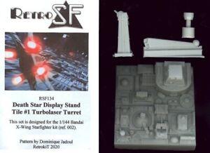 RetroKits Models 1/144 DEATH STAR DISPLAY STAND TILE #1 TURBOLASER TURRET