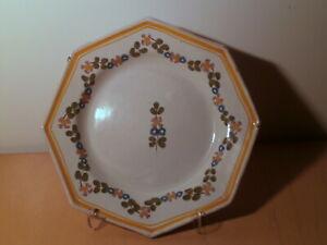 Assiette ancienne 18 19 siècle faience centre France décor fleur