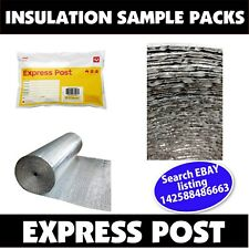 Insulation Sample Pack -  Pay for Postage Only - BUBBLE FOIL 4mm & XPE Foam 6mm