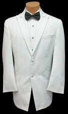 Men's Chaps White Tuxedo Jacket Formal Dinner Wedding Groom Mason Prom 44XL