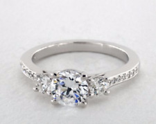 1.80 Ct Round Diamond Engagement Ring 14K Solid White Gold Rings Size L M N O P