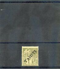TAHITI Sc 16(YT 18)*F-VF LH, 1893 1F OLIVE, $220