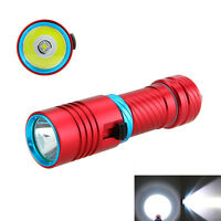 Underwater 100m 6000LM XM-L2 LED Scuba Diving Waterproof Flashlight Torch Light