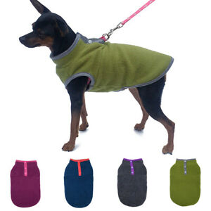 Pet Puppy Dog Jumper Vest Coat Jacket Apparel Winter Warm Fleece Clothes Outdoor