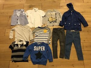 Boys Age 3-4 Years Bundle Winter Next Geox Rain Coat Jeans Tops Shirt Minions