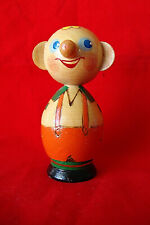Vintage Beriozka Wood Carved and Painted Folk Art Figure, Country Man, 4 Inches