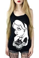 Ouija Alice Rebel Ladies Vest Top Gothic Tattoo Occult Alternative Clothing
