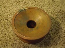 Vintage Brass Spittoon - Round Pan 2 Piece Red Clay Toned