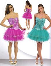 PURPLE SHORT SWEET 16 DANCE COCKTAIL DRESS HOMECOMING EVENING BALL GOWN SZ 4