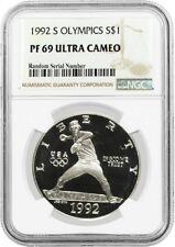 1992 S $1 XXV Olympics Commemorative Silver Dollar NGC PF69 UC