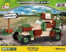 COBI Armored Car wz.34  / 2393 / 253 pcs blocks WWII Polish car Small Army tank