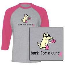 Teddy the Dog Bark for a Cure T Shirt Unisex Baseball Tee Breast Cancer Ltd Ed