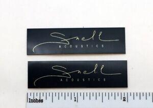 Snell Acoustics Signature Speaker Grill Badge Logo Custom Made Aluminum PAIR