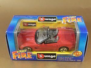 BURAGO BURAGO 1/43 STREET FIRE #4176 CHEVROLET CORVETTE CONVERTIBLE '98[PI3-033]