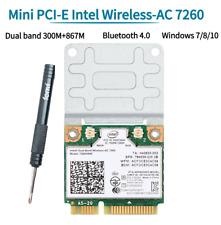 Dual Band Intel 7260HMW Mini PCI-E WiFi Card Bluetooth 4.0 Network Card 7260 AC
