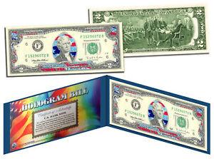 STARS & STRIPES FLAG HOLOGRAM Legal Tender US $2 Bill Currency *Limited Edition*