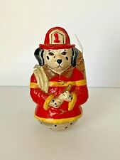 Vintage Christmas Midwest Importers Figurine Firefighter Dog Dalmatian