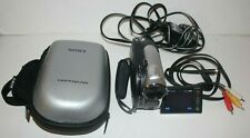 Sony Handycam DCR-DVD108 Mini DVD Video Camera Camcorder Tested W/ Charger A/V