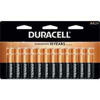 24 Pack Duracell AA CopperTop Alkaline Duralock Batteries MN1500B24