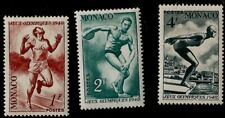 1948 London Summer Olympic Games Swimming, Running, Discus Throwing Monaco Mint