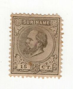SURINAME, YV # 8, M NO GUM, BROKEN ON THE RIGHT TOP