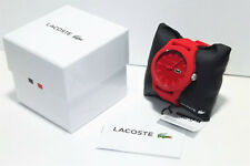 Men's Lacoste 2010764 .12.12 Red Dial Red Silicone Watch New Free Shipping