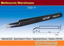 VETUS Original Genuine High Quality Anti-static Switzerland Tweezers ESD-17 AU
