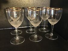 """Moser Crystal """"Royal"""" Pattern, Set Of 6 Clear Claret Wine Glass  Diamond Cut."""